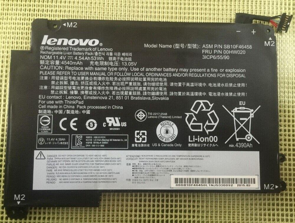 ФОТО Genuine Original Laptop Battery for Lenovo ThinkPad S3 Yoga 14 FRU 00HW020 AMS FB10F46458 11.4v 4.54AH 53WH 3ICP6/55/90