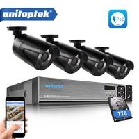4CH HD 1080P POE NVR CCTV System Kit 1 0MP 720P IP Camera Outdoor IP66 Waterproof