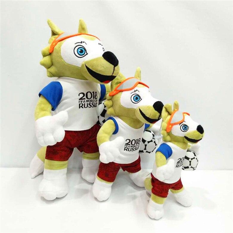 Russia Cartoon Cute Wolf Plush Toys Mascot Soft PP Cotton Plush Toy Doll Football Fans Souvenir Toy Gift Children Birthday Gift