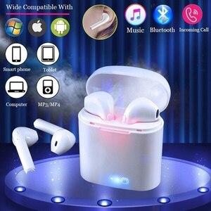Image 1 - Nouveau i7s TWS Mini sans fil écouteurs HiFi stéréo casque Bluetooth 5.0 écouteurs avec micro boîte de charge pour téléphone IOS Android