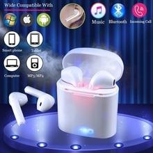 חדש i7s TWS מיני אלחוטי אוזניות HiFi סטריאו אוזניות Bluetooth 5.0 אוזניות עם מיקרופון טעינת תיבת עבור טלפון IOS אנדרואיד