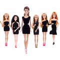 6Pcs Dress+6Pairs Shoes Doll Accessories Lot Of Dress For Dolls 1/6