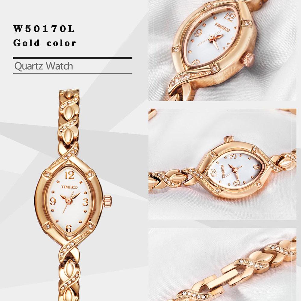 TIME100 Kvinnor Klockor Kvarts Jewlry Guld Cristal Dial Rhinestone - Damklockor - Foto 5