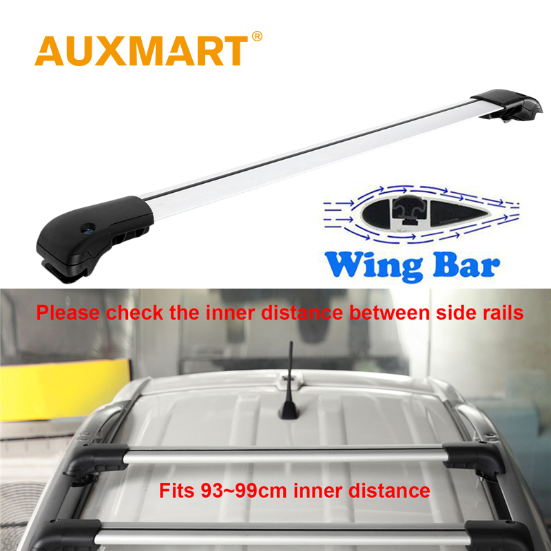 Auxmart Universal Car Roof Rack Cross Bars 93~99cm with Anti-theft Lock Auto Roof Rails Racks Bar Load Cargo Luggage Carrier ...
