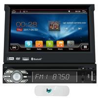 Độc Din 7 inch Android 6.0 Quad Core Máy Nghe Nhạc DVD Trong Dash GPS Navigation Đài Phát Thanh Stereo Hỗ Trợ WiFi Bluetooth USB/SD + 3 Gam Dongle