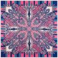 Seda de la bufanda mujeres 2016 eurpean nueva impresión de la flor cuadrado grande bufanda de seda rosado de calidad superior barato seda bufandas chales bufandas
