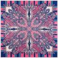silk scarf women 2016 eurpean fashion new flower print large square silk scarf pink top quality cheap silk scarfs shawls scarves