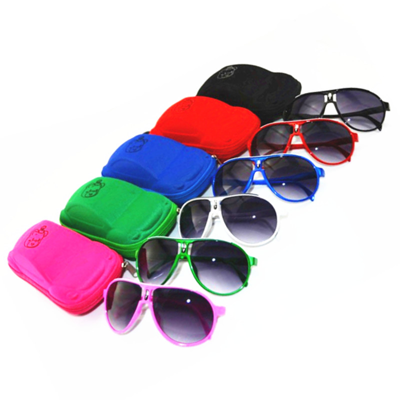 Distribution Cubs car glasses case Children Glasses Avoator Pilot Sunglasses Boys Girls Kids Baby Child Goggles UV400