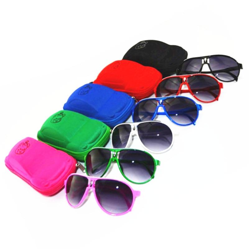 Distribution Cubs car glasses case Children Glasses Avoator Pilot Sunglasses Boys Girls Kids Baby Child Goggles UV400