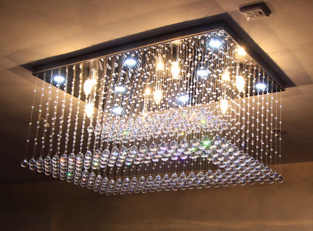 Nuovo design flush mount lampadario di cristallo ha condotto la