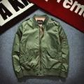 Sponge mice New Spring Ma1 Bomber Jacket Men Casual Long Sleeve Black Pilot Jacket