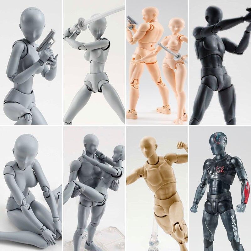 Anime arquetipo que ella de ferrita Figma móvil Cuerpo Femenino KUN cuerpo Chan PVC figura de acción modelo juguetes muñeca de colección