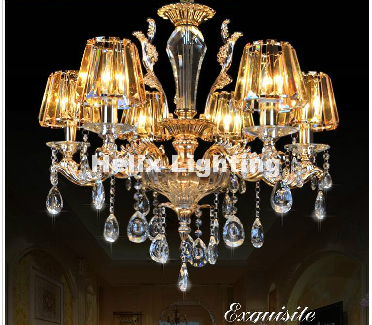 Newly Alloy Crystal Chandelier Lights Hot Selling Modern Crystal Chandelier Crystal Shade 110-260V 100% Guaranteed Free Shipping