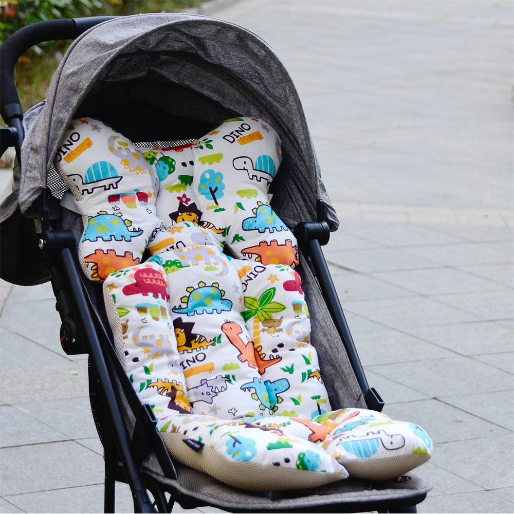 Strollers Accessories Cartoon Patterns Warm Stroller Cushion Seat Cover Diaper Pad Cotton Baby Cart Mat Kids Sleeping Mattress Pram Accessories