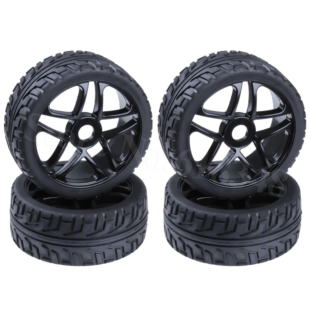 4pcs 1/8 Buggy Tires & Wheels Rims 17mm Hub For Off Road RC Car HPI Losi HSP BAZOOKA CAMPER(China)