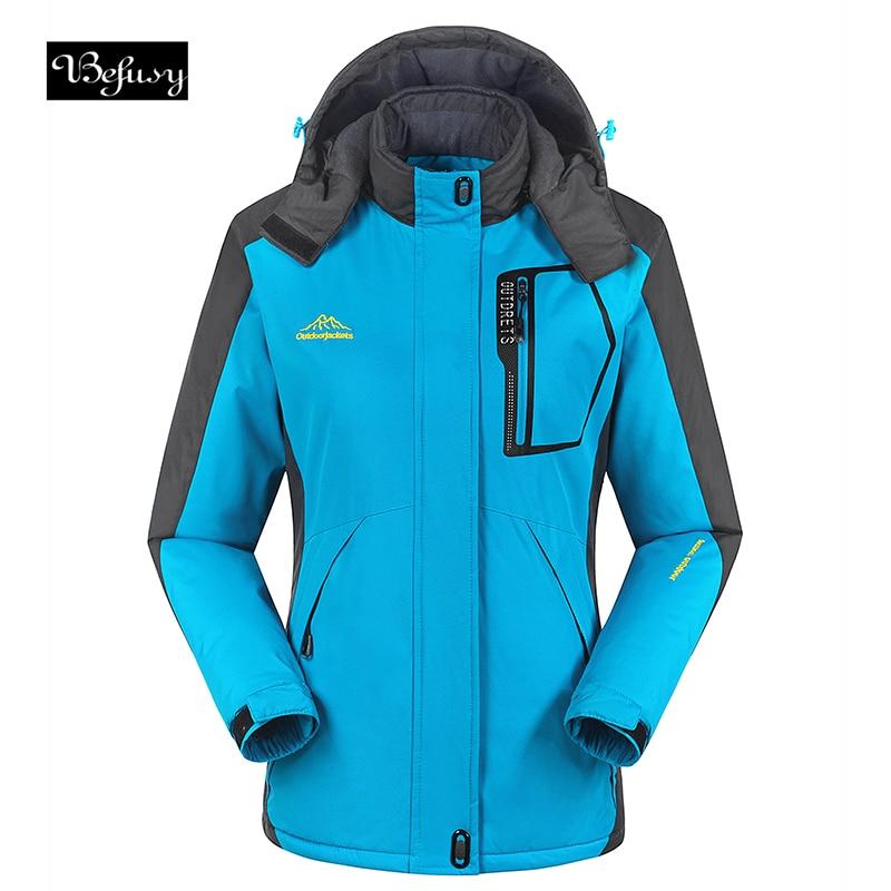 Befusy Ladys Windproof Waterproof Women Ski Jackets Winter Warm Outdoor Sport Snow Skiing Snowboarding Female Hiking Coats