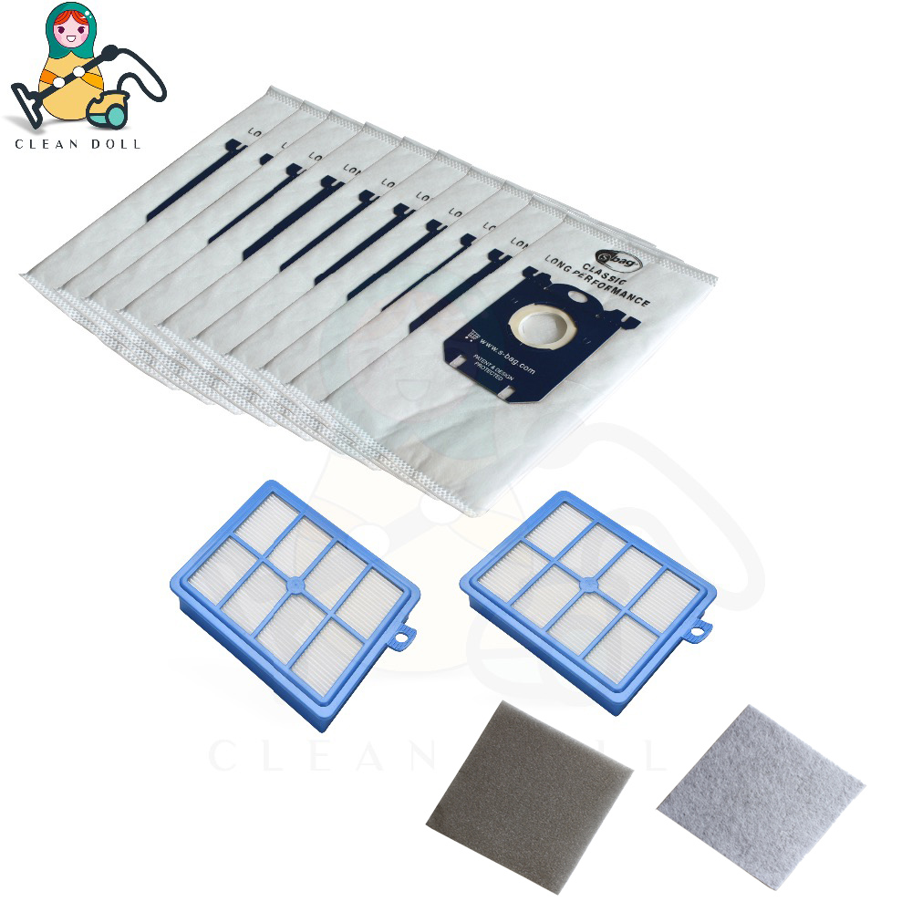 CLEAN DOLL Dust bags S-bag Motor Filter HEPA for Philips Electrolux AEG Volta Tornado FC8031 FC9174 EL4100 Vacuum Cleaner bags аксессуар чехол fly fs458 stratus 7 zibelino classico black zcl fly fs458 blk