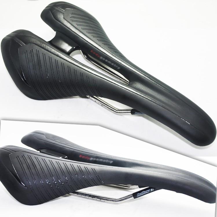 Новое прибытие высокого класса высокое качество дышащий 270*143 мм 245г классический МТБ титана железнодорожных стеклоткани кожа велосипедов седло