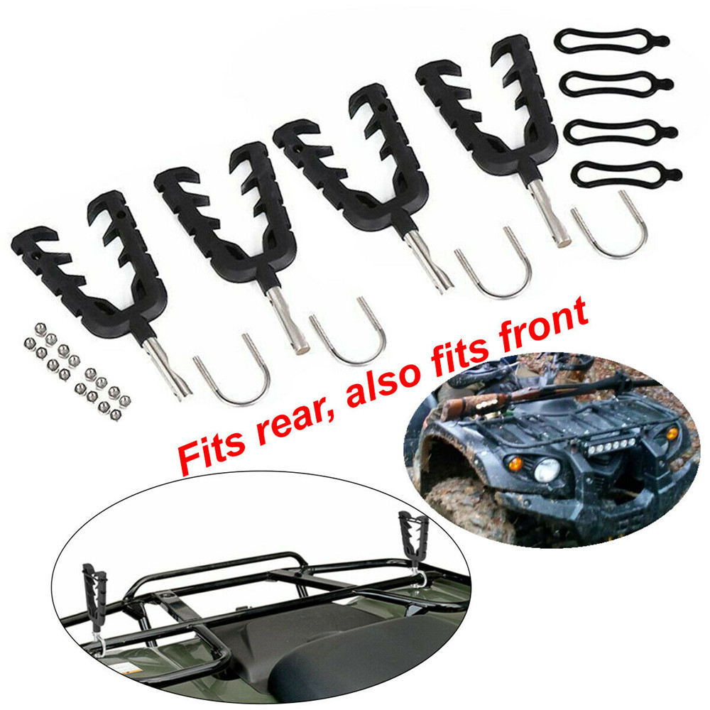2 Pairs Quad Handlebar Gun Rack Mounts ATV UTV For Can-Am For Polaris Golf Car Golf Cart Motocross Golf Cart Motocross