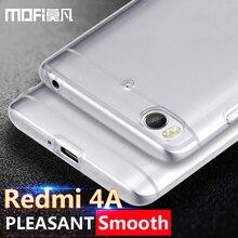 Xiaomi redmi 4a case ultra thin clear silicone mofi original xiomi redmi 4 a coque tpu slim protection redmi4A funda transparent
