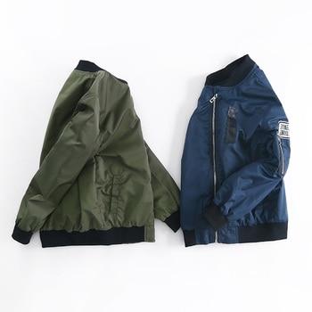 Spring Autumn Jackets for Boy Coat Bomber Jacket Army Green Boy's Windbreaker Jacket letter Print Kids Children Jacket age 3-13 1