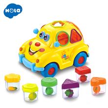 HOLA 516 Baby Toys Electronic Car with Music & Light Puzzle Fruit Shape Sorters Learning Educational for Children
