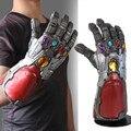 Homem de ferro infinity gauntlet o fim do jogo marvel super-herói thanos infinity gauntlet cosplay braço luvas de látex
