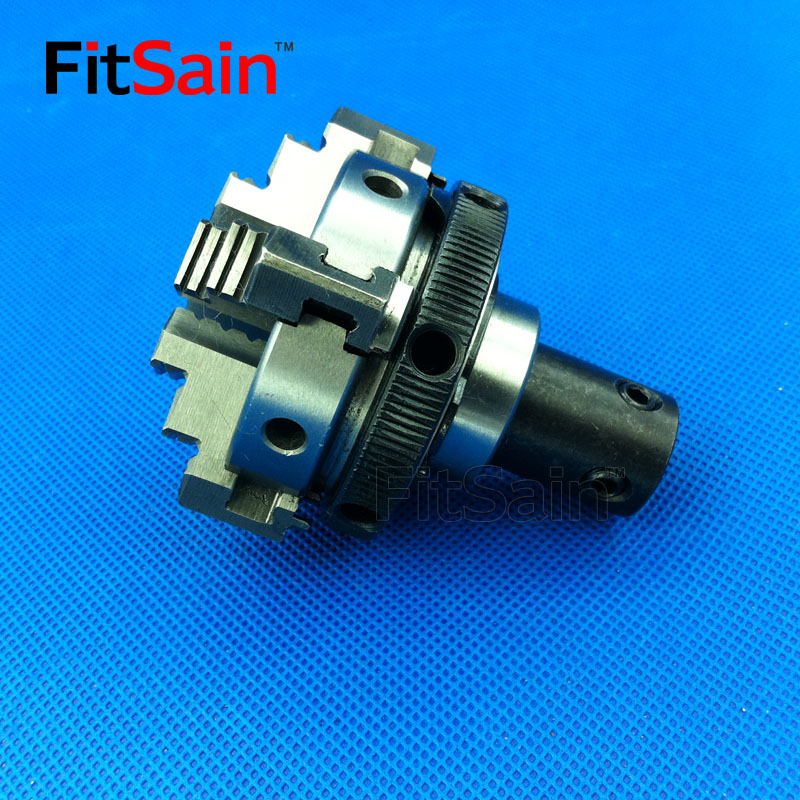 FitSain-Four lõuapadrun D = 50mm. CNC mini ISESEENIMINE maiuseadmega padrun Bench Treipingi osad Kasutatakse mootorivõlli jaoks 8mm / 10mm