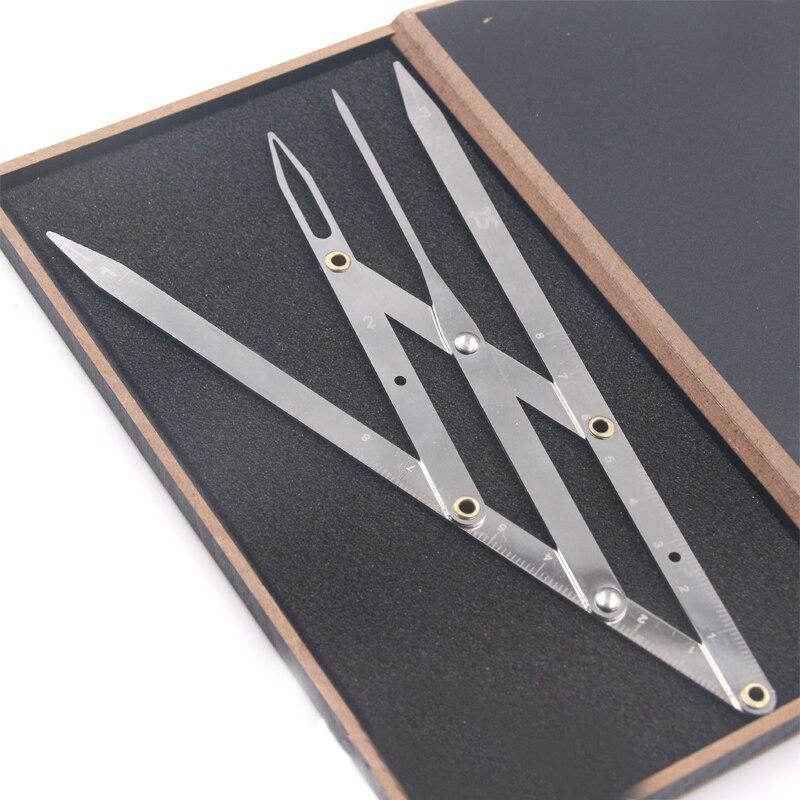 1 pz In acciaio inox Rapporto Aureo PINZE Microblading Permanente di Trucco Del Sopracciglio Strumento di Misura Media Oro Sopracciglio DIVISORE