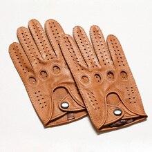 Hoge Kwaliteit 2019 New Hot Koop Mannen Lederen Handschoenen Geitenleer Handschoenen Mode Mannen Ademend Rijden Handschoenen Voor Man Mittens