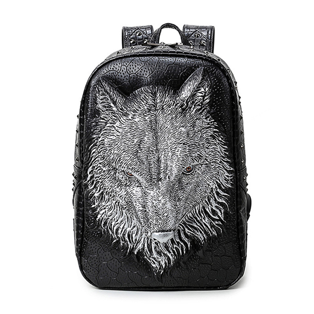 EBACAD 3D Wolf Backpack Male Ladies Leisure Large Capacity Computer Shoulder Bag Trend Knapsack Shopping Traveling Work Carrying кисть плоская lasur standard смешанная щетина 20мм stayer 01031 20