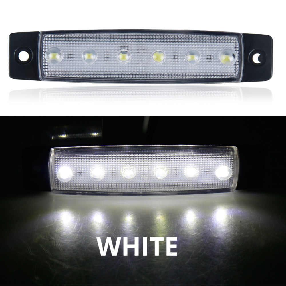 רכב חיצוני אור LED 12V 24V 6 SMD LED אוטומטי רכב אוטובוס משאית משאית צד סמן חיווי Led קרוואן אור אזהרה אחורי צד מנורה