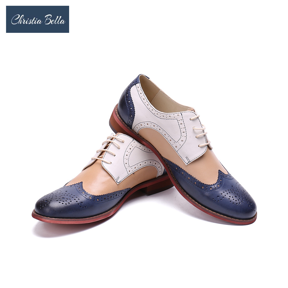Christia Bella Fashion Mens Dress Office Lace-Up Leather Shoes Mens Casual Party Driving Oxfords Man Vintage Carved Brogue FlatChristia Bella Fashion Mens Dress Office Lace-Up Leather Shoes Mens Casual Party Driving Oxfords Man Vintage Carved Brogue Flat