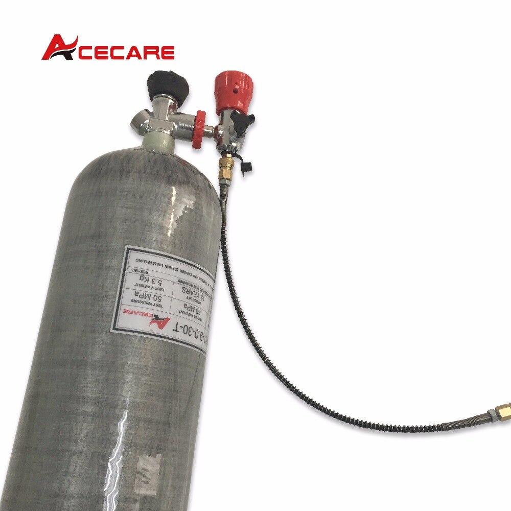 Acecare полный набор 9L SCBA PCP air винтовка airforce Кондор 4500psi углеродного волокна Танк с клапаном и заполнить станции-M ...