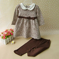 Fashion Baby Girl Clothes Outfits Loose T-shirt Dress & Pants 2 PC Set Girls Leopard Princess Clothing Kids Toddler Casual Suit