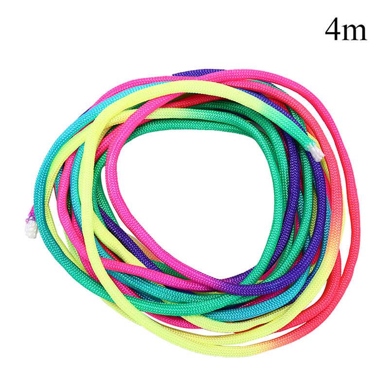 4 m arco-íris corda corda cuerda escalada pára-quedas cordão cordão ao ar livre escalada acampamento tenda sobrevivência pulseira