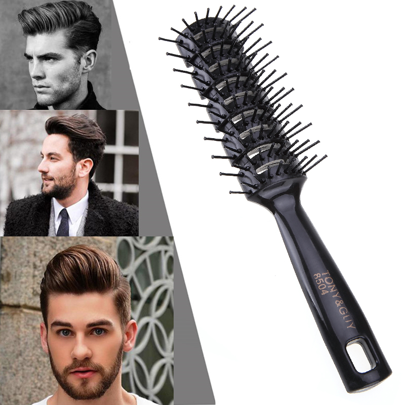 Pro Hairdressing Hair Salon Barber Anti static Heat Comb Hair Wig Styling Tool Comb Brush Healthy Massage Reduce Hair Loss Tools-in Combs from Beauty & Health