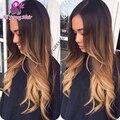 2016 venda quente loira Ombre Glueless Full Lace perucas de cabelo humano brasileiro corpo onda Ombre frente U parte peruca com cabelo do bebê