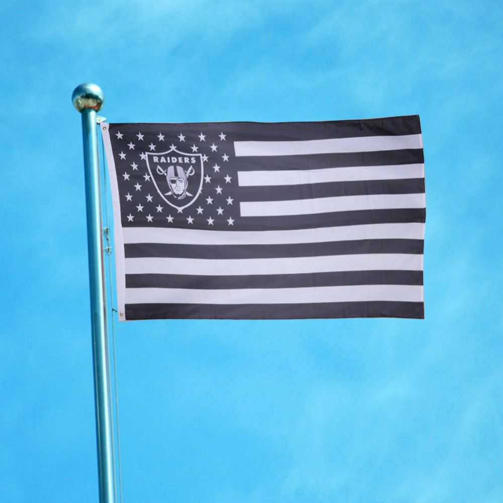 1 Pcs 95*150cm US flag with star and stripe Oakland Raiders Flags ...