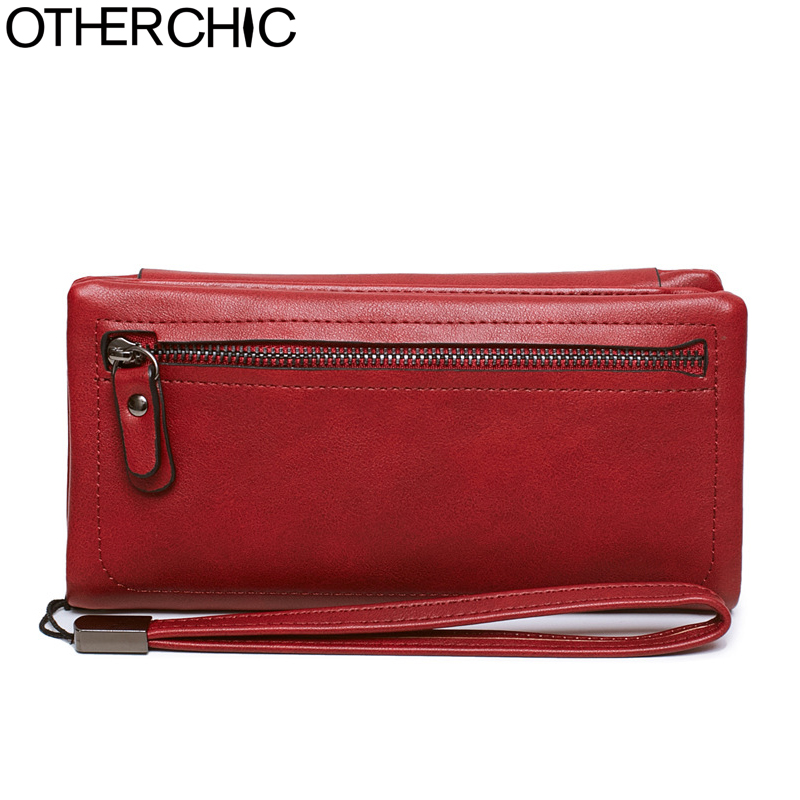 OTHERCHIC Large Capacity Long Trifold Wallets Women Purses Card Holder Phone Pouch Women Clutch Wallets Drop Shipping 8N04-08