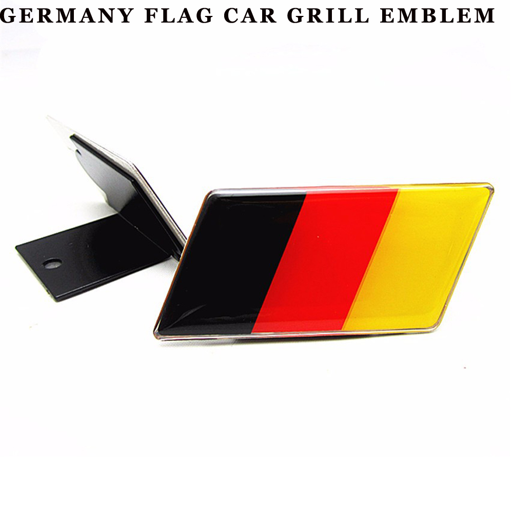 High qulity Car Front German Flag Grille Emblem Badge case for Volkswagen Scirocco GOLF 7 Golf 6 Polo GTI VW Tiguan Audi A4 A6