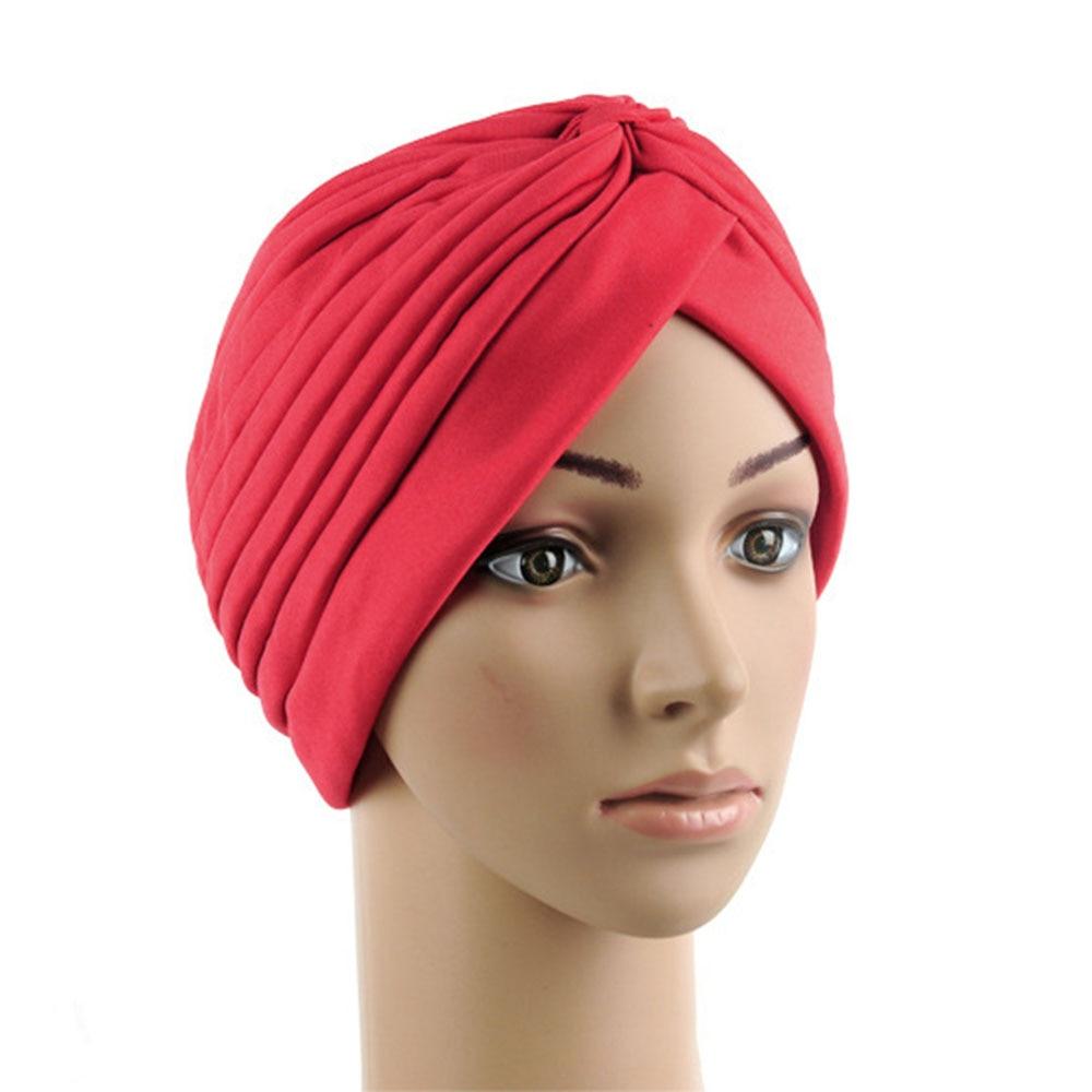 New Unisex Indian Style Stretchable Turban Hat Hair Head Wrap Cap Headwrap H34 skullies 2017 fashion new arrival indian yoga turban hat ear cap sleeve head cap hat men and women multicolor fold 1866688
