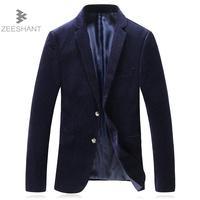 ZEESHANT Mens Coreia Do Estilo Slim Fit Blazers Moda Terno Jaqueta Casual Masculino Casaco Blazer Masculino vestido de Noiva Azul Vinho Vermelho
