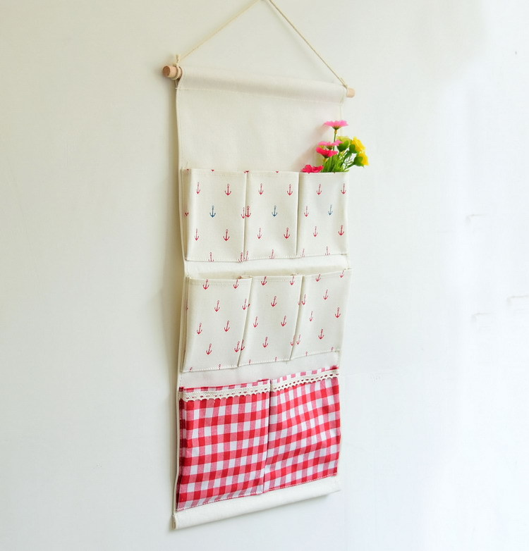 8 Pockets Vintage Linen Closet Hanging Storage Organizer Bags Door Rack  Wall Holder Decoration Cosmetic Sundries Household In Storage Bags From  Home ...
