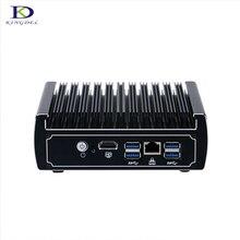Новые акции безвентиляторный мини-ПК DDR4 Оперативная память Intel Celeron 3865U полный металлический корпус Win10 неттоп TV Box 16 г Оперативная память 128 г SSD настольных ПК