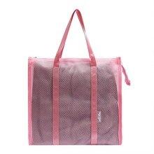 Womens Portable Handkerchief Mesh Waterproof Wash Bag Female Large Capacity Summer Beach Swimwear Storage Swimming Bags