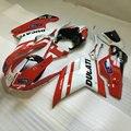 Injection mold Fairing KIT for DUCATI 848 1098 1198 08 09 Ducati ducati 1098 2008 2009 ABS Red white Fairings set+7gifts DA07
