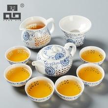 TANGPIN сине-белый изысканный керамический чайник чайники чайная чашка фарфор китайский чайный набор кунг-фу посуда для напитков
