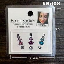 Colorful Rhinestone Bindi Sticker Handpicked Hippie Style Forehead Decoration