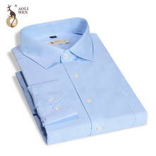 2017 New Spring And Autumn Fashion Mens Work Shirts Brand Long Sleeve Striped Men Dress White Male Size M-4xl